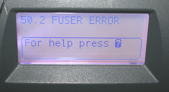 How to solve Printer is displaying a 50 to 59 error message